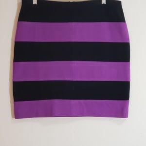 Ann Taylor Pencil Skirt, Black/Magenta, Sz 10